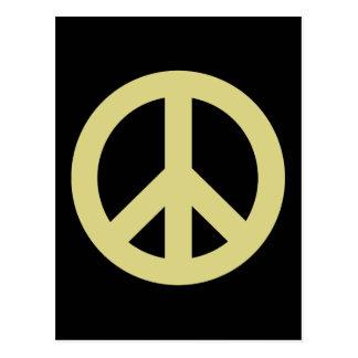 Friedenszeichenlicht Postkarte