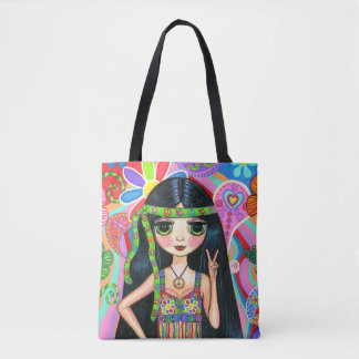Friedenszeichenpsychedelische Tasche