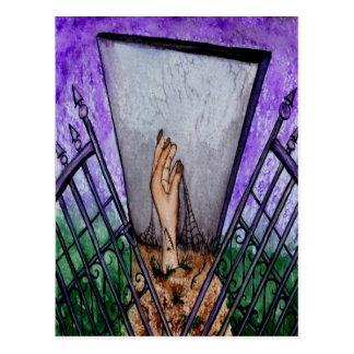 Friedhof versieht leere Gruß-Karte mit einem Postkarte