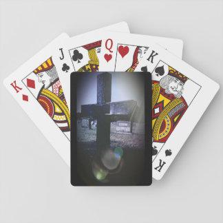 Friedhofs-Querspielkarten, Standardindexgesichter Spielkarten