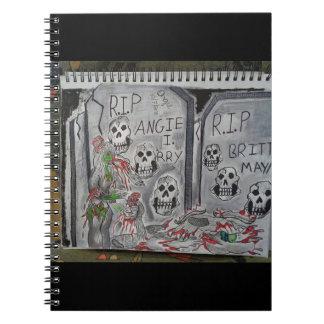 Friedhofs-Zombie Spiral Notizblock