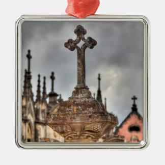 Friedhofsquernahaufnahme, Portugal Silbernes Ornament