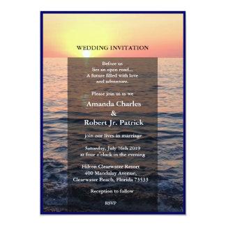 Friedliche elegante 12,7 x 17,8 cm einladungskarte
