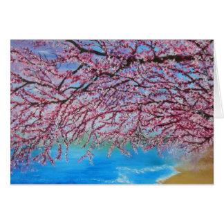 Friedliche Kirschblüten-Grußkarte Karte