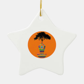 Friedliche Meditation Keramik Ornament