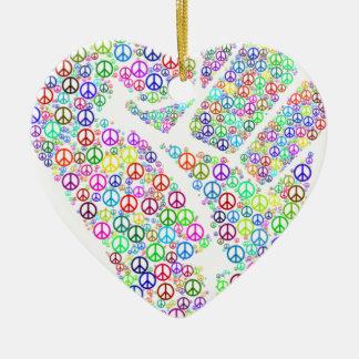 Friedliche Revolution Keramik Herz-Ornament