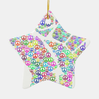 Friedliche Revolution Keramik Stern-Ornament
