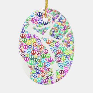 Friedliche Revolution Ovales Keramik Ornament