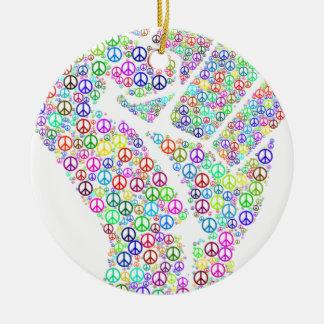 Friedliche Revolution Rundes Keramik Ornament