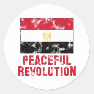 Friedliche Revolution Vintag Runder Aufkleber