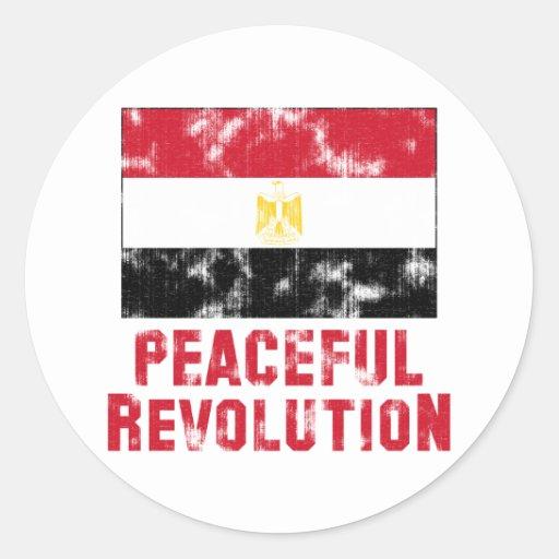 Friedliche Revolution Vintag Runder Sticker