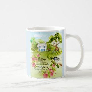 Friedliche Zuhause-Tasse Kaffeetasse
