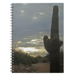 Friedlicher Arizona-Morgen Spiral Notizblock