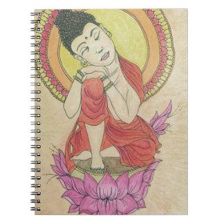 Friedlicher Buddha Notizblock