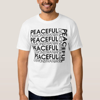 Friedlicher Demonstrant T Shirts