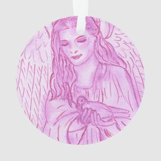 Friedlicher Engel im Rosa Ornament