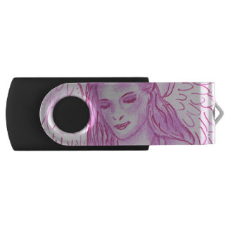 Friedlicher Engel im Rosa USB Stick