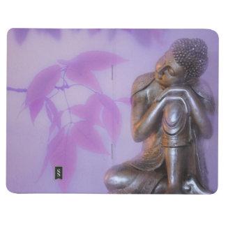 Friedlicher silberner Buddha Taschennotizbuch