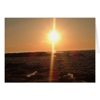 Friedlicher Sonnenuntergang Karte