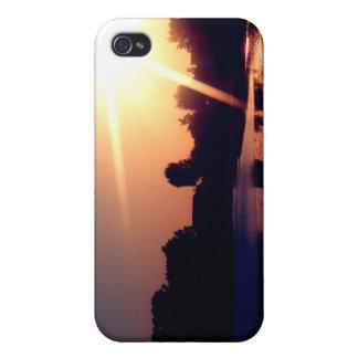 Friedlicher Sonnenuntergangtelefonkasten iPhone 4 Schutzhüllen