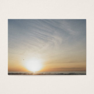 Friedlicher Strand-Sonnenuntergang-Sonnenaufgang Visitenkarte