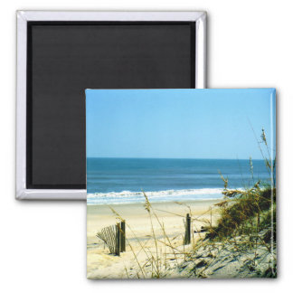Friedlicher Tag am Strand Quadratischer Magnet