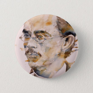 Friedrich nietzsche - Aquarell portrait.2 Runder Button 5,7 Cm