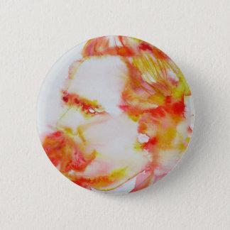 Friedrich nietzsche - Aquarell portrait.3 Runder Button 5,7 Cm