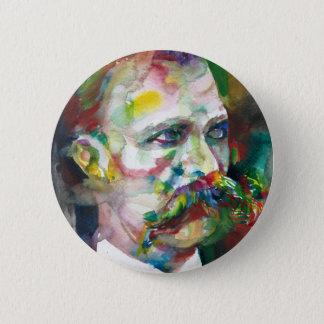 Friedrich nietzsche - Aquarellporträt Runder Button 5,1 Cm