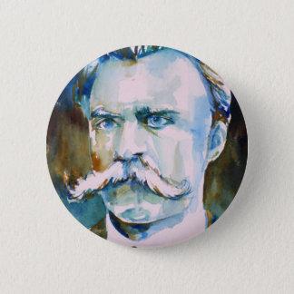 Friedrich nietzsche - Aquarellporträt Runder Button 5,7 Cm