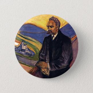 Friedrich Nietzsche Edvard Munch Runder Button 5,7 Cm