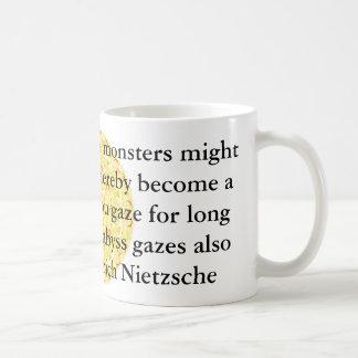 Friedrich Nietzsche - profundes Zitat Kaffeetasse