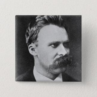 Friedrich Wilhelm Nietzsche (1844-1900) 1873 (b/w Quadratischer Button 5,1 Cm
