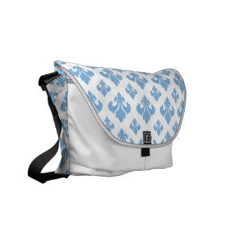 Friedvolles Blau der Lilien-2 Kurier Taschen