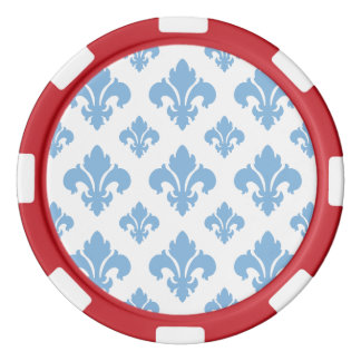 Friedvolles Blau der Lilien-2 Poker Chip Sets