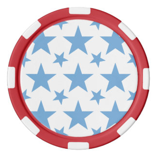 Friedvolles Blau des Stern-2 Pokerchips