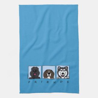 Friends: Bouvier, Beagle & Alaskan Malamute Handtuch