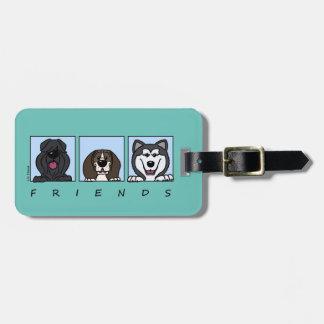 Friends: Bouvier, Beagle & Alaskan Malamute Kofferanhänger