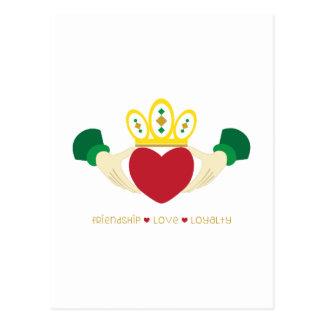 Friendship*Love*Loyalty Postkarte