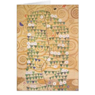 Fries-Baum Gustav Klimt der Leben-Anmerkungs-Karte Mitteilungskarte