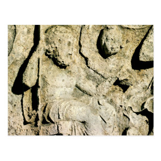 Fries, das König Priam und Hecuba darstellt Postkarte