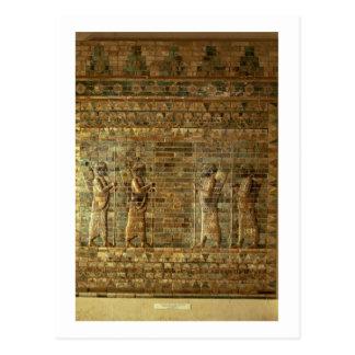Fries der Bogenschützen des persischen Schutzes Postkarten
