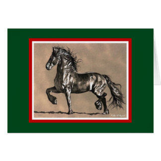 Friesische Pferdeweihnachtskarte Karte