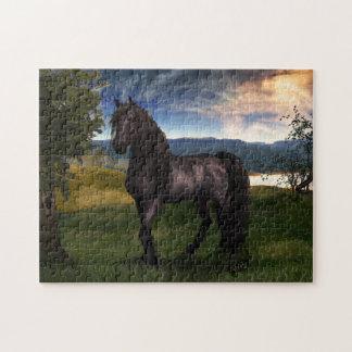 Friesisches Pferdepuzzlespiel Puzzle