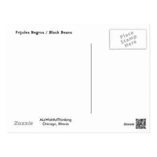 Frijoles Negros/schwarze Bohnen Postkarte