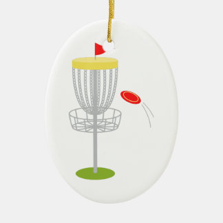 Frisbee-Disc-Golf Keramik Ornament