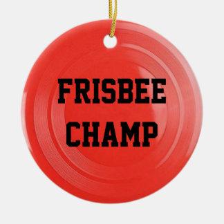 Frisbee-Liebhaber-personalisierte Verzierung Keramik Ornament
