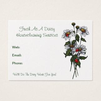 Frisch als Gänseblümchen: Haus putzende Visitenkarte
