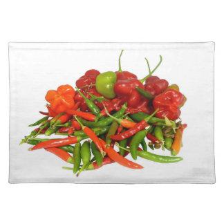 Frisch ausgewählte Paprika-Tischsets Tischset