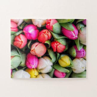 Frisch ausgewählte Tulpen Puzzle